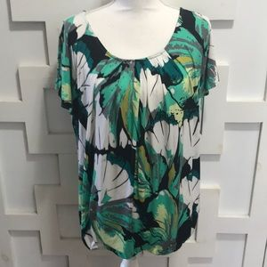New York & Co Green Woman's Top Size XL